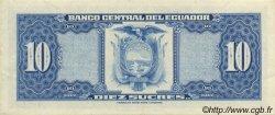 10 Sucres ÉQUATEUR  1977 P.109 SUP