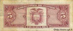 5 Sucres ÉQUATEUR  1979 P.113c pr.TTB