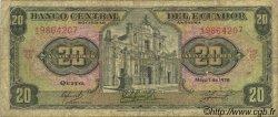 20 Sucres ÉQUATEUR  1978 P.115b B+