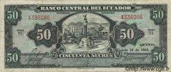 50 Sucres ÉQUATEUR  1964 P.116b TTB