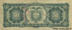 50 Sucres ÉQUATEUR  1969 P.116d TB+