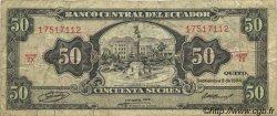 50 Sucres ÉQUATEUR  1984 P.122a TB