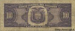 100 Sucres ÉQUATEUR  1986 P.123 B