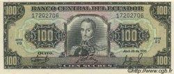 100 Sucres ÉQUATEUR  1986 P.123 pr.NEUF