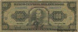 100 Sucres ÉQUATEUR  1990 P.123 B
