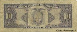 100 Sucres ÉQUATEUR  1988 P.123Aa B