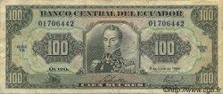100 Sucres ÉQUATEUR  1988 P.123Aa TB