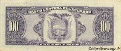 100 Sucres ÉQUATEUR  1988 P.123Aa SUP