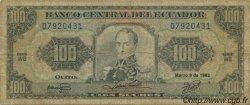 100 Sucres ÉQUATEUR  1992 P.123Aa B