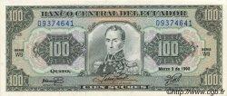100 Sucres ÉQUATEUR  1992 P.123Aa SUP+