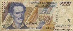 5000 Sucres ÉQUATEUR  1987 P.126a pr.TB