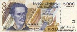 5000 Sucres ÉQUATEUR  1987 P.126a SUP