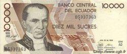10000 Sucres ÉQUATEUR  1988 P.127a SUP+