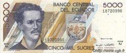 5000 Sucres ÉQUATEUR  1992 P.128a SPL