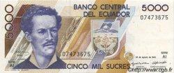 5000 Sucres ÉQUATEUR  1993 P.128a pr.NEUF