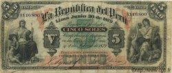 5 Soles PÉROU  1879 P.003 TB