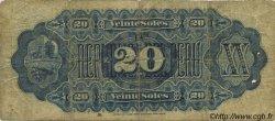 20 Soles PÉROU  1879 P.007a B+