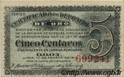 5 Centavos PÉROU  1917 P.029 NEUF