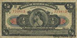 1/2 Libra PÉROU  1922 P.048 TB