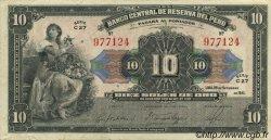 10 Soles PÉROU  1941 P.067Aa pr.SPL