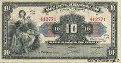 10 Soles PÉROU  1947 P.067Ac TTB+