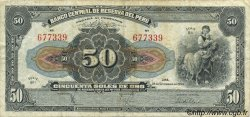 50 Soles PÉROU  1950 P.068Ac pr.TTB