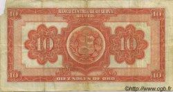 10 Soles PÉROU  1951 P.071a TTB