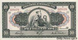 10 Soles PÉROU  1951 P.071a NEUF