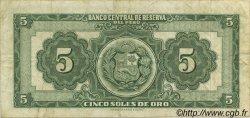 5 Soles PÉROU  1956 P.076 TTB
