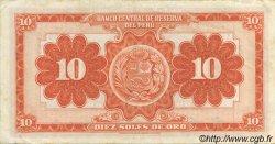 10 Soles PÉROU  1958 P.082 pr.SUP