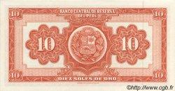 10 Soles PÉROU  1961 P.082A NEUF