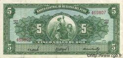 5 Soles de Oro PÉROU  1962 P.083 SUP