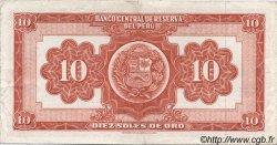 10 Soles de Oro PÉROU  1963 P.084 TTB