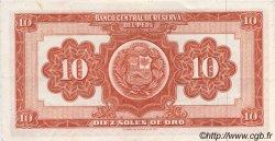 10 Soles de Oro PÉROU  1963 P.084 SUP
