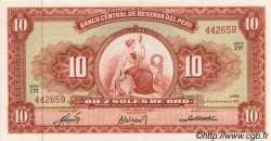 10 Soles de Oro PÉROU  1963 P.084 NEUF