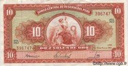10 Soles de Oro PÉROU  1966 P.084 pr.SUP