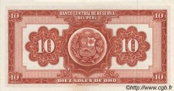 10 Soles de Oro PÉROU  1966 P.084 pr.NEUF