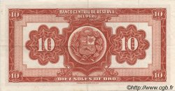 10 Soles de Oro PÉROU  1967 P.084 SPL