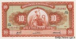 10 Soles de Oro PÉROU  1968 P.084 NEUF