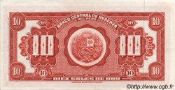 10 Soles de Oro PÉROU  1965 P.088 SPL+