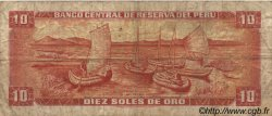 10 Soles de Oro PÉROU  1971 P.100b B+