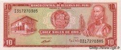 10 Soles de Oro PÉROU  1972 P.100c pr.NEUF
