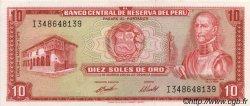 10 Soles de Oro PÉROU  1973 P.100c pr.NEUF
