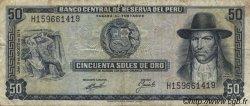 50 Soles de Oro PÉROU  1974 P.101c TB+