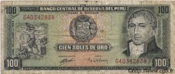 100 Soles de Oro PÉROU  1969 P.102a TB