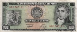 100 Soles de Oro PÉROU  1970 P.102b SUP