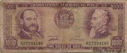 1000 Soles de Oro PÉROU  1972 P.105b B