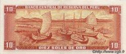 10 Soles de Oro PÉROU  1975 P.106 SPL