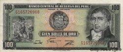 100 Soles de Oro PÉROU  1975 P.108 TTB+
