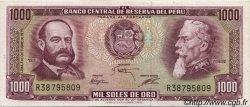 1000 Soles de Oro PÉROU  1975 P.111 SPL